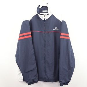 Vintage Sergio Tacchini Spell Out Striped Jacket